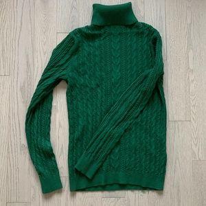 Land's End green turtleneck sweater